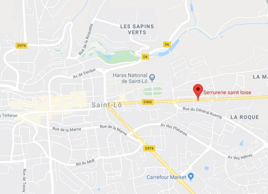 serrurier-spécialisé-saint-lô-googlemap